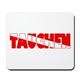 Tauchen German Scuba Flag Mousepad
