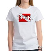 Pirate-style Diver Flag Women's T-Shirt