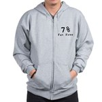 7% Fat Free T-Shirts & Gifts Zip Hoodie