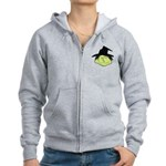 Happy Green Witch Women's Zip Hoodie