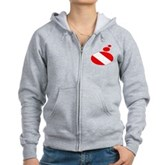 Thought Bubble Dive Flag Women's Zip Hoodie