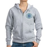 50 Logged Dives Women's Zip Hoodie