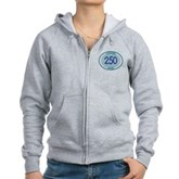 250 Logged Dives Women's Zip Hoodie