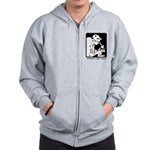 Science Club Rules Zip Hoodie