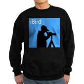 iBird (blue) Sweatshirt (dark)
