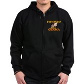 Fist Bump for Obama Zip Hoodie (dark)