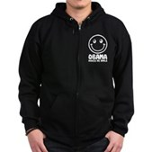 Obama Makes Me Smile Zip Hoodie (dark)