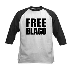 Free Illinois Governor Blagojevich, he's innocent! Kids Baseball Jersey