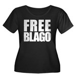 Free Illinois Governor Blagojevich, he's innocent! Women's Plus Size Scoop Neck Dark T-Shirt