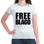 Free Illinois Governor Blagojevich, he's innocent! Jr. Ringer T-Shirt