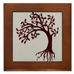 Autumn Wind Framed Tile