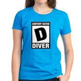 Rated D: Diver Women's Dark T-Shirt