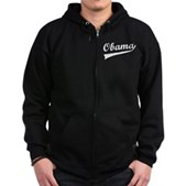 Obama Swish Zip Hoodie (dark)