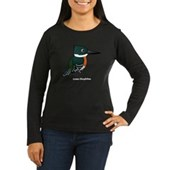 Green Kingfisher Women's Long Sleeve Dark T-Shirt