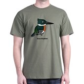 Green Kingfisher Dark T-Shirt