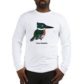 Green Kingfisher Long Sleeve T-Shirt