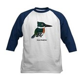 Green Kingfisher Kids Baseball Jersey