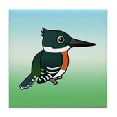 Green Kingfisher Tile Coaster