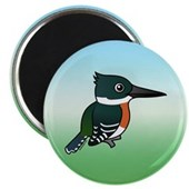 Green Kingfisher Magnet