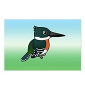 Green Kingfisher Postcards (Package of 8)