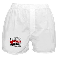 PEACE LOVE CURE Lung Cancer Boxer Shorts
