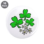 "Irish Shamrocks 3.5"" Button (10 pack)"