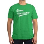 Team Awesome Men's Fitted T-Shirt (dark)