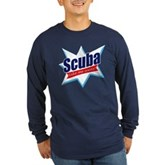 Scuba Take Me Away Long Sleeve Dark T-Shirt