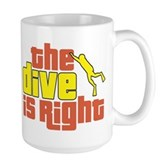 The Dive Is Right Large Mug