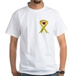 Military Brother Yellow Ribbon White T-Shirt