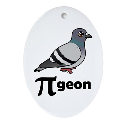 PI-geon Oval Ornament