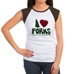 I Heart Forks, WA - Twilight Women's Cap Sleeve T-