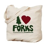 I Heart Forks, WA - Twilight Tote Bag
