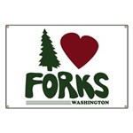 I Heart Forks, WA - Twilight Banner