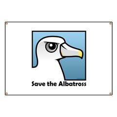 Save the Albatross (close-up) Banner