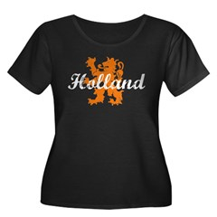 Holland Women's Plus Size Scoop Neck Dark T-Shirt