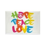 Hope Peace Love Rectangle Magnet