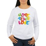 Hope Peace Love Women's Long Sleeve T-Shirt