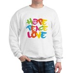 Hope Peace Love Sweatshirt