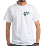 White T-Shirt : Sizes Small,Medium,Large,X-Large,3X-Large,4X-Large,2X-Large  Available colors: White