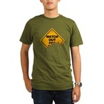 Watch Out! Organic Men's T-Shirt (dark)