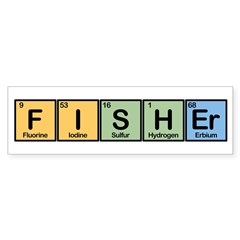Fisher made of Elements Sticker (Bumper)