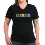 Skater made of Elements Women's V-Neck Dark T-Shir