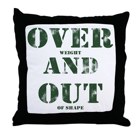 Over & Out Throw Pillow