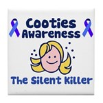 Cooties Awareness Tile Coaster