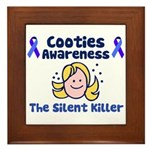Cooties Awareness Framed Tile
