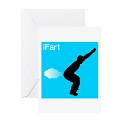 iFart Funny Spoof Greeting Card