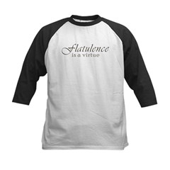 Flatulence Is A Virtue Kids Baseball Jersey