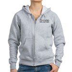 I'm a Lurker, Not a Writer Women's Zip Hoodie