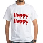 Happy Happy Joy Joy White T-Shirt